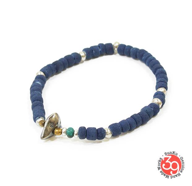 Sunku SK-068 Indigo Dye Beads Bracelet(M Beads)