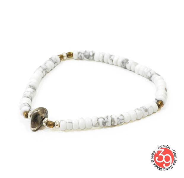 Sunku SK-069 Howlite Beads Bracelet