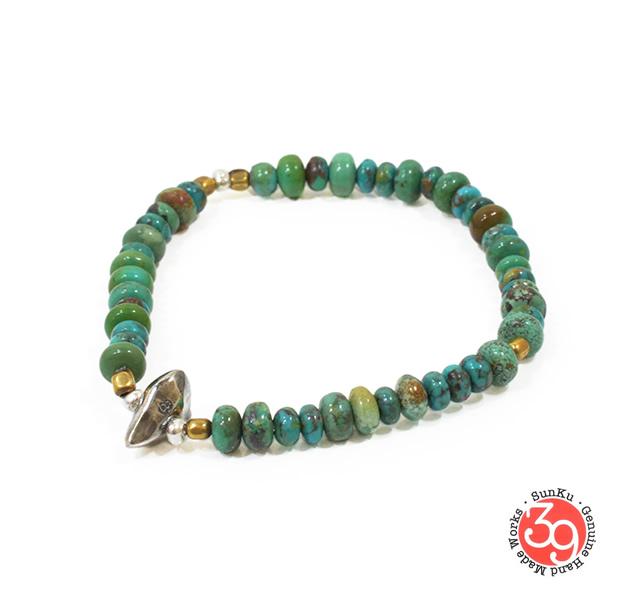 Sunku SK-071 Turquoise Beads Bracelet(M Beads)