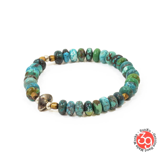 Sunku SK-072 Turquoise Beads Bracelet(L Beads)