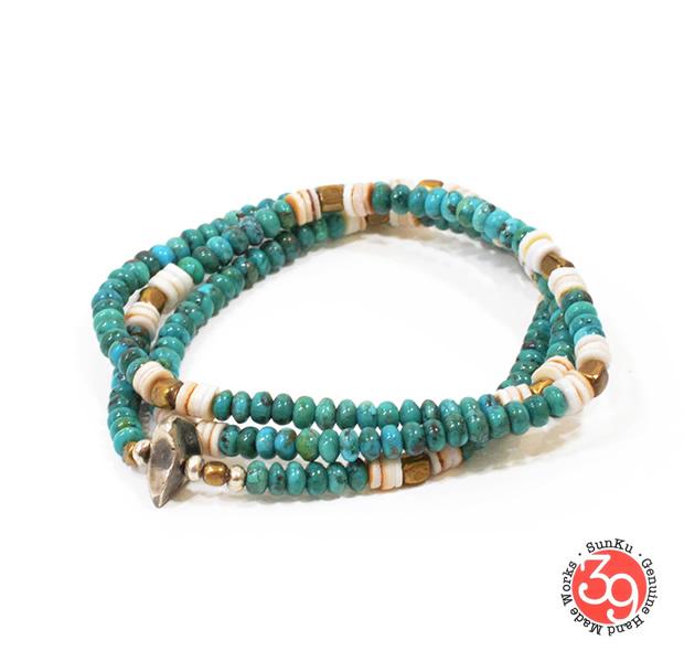 Sunku SK-089 Turquoise Beads Mix Necklace & Bracelet