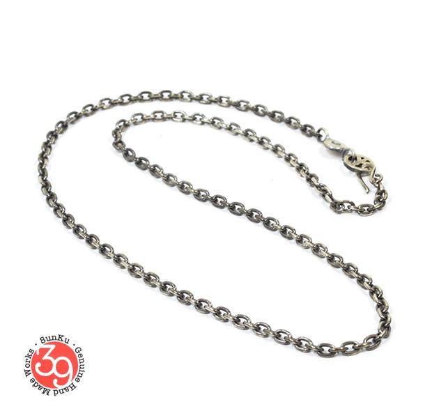 Sunku SK-092 Oval Silver Chain(M)