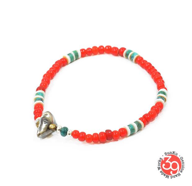 Sunku SK-101 White Heart Mix Bracelet