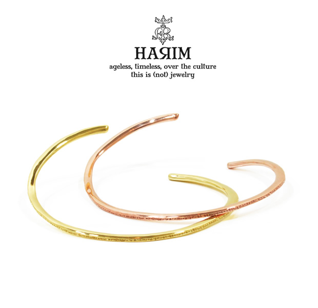HARIM HRA044G thin rain bangle very narrow K18coat