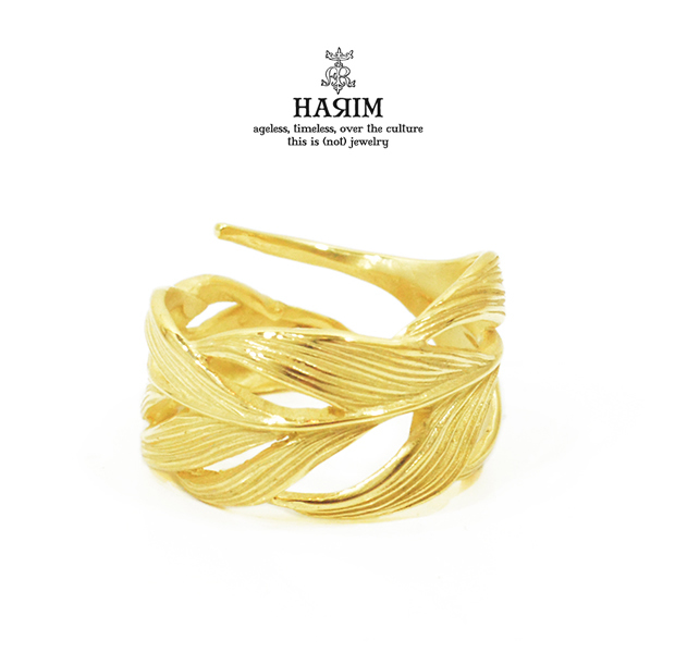 HARIM HRR015G Owl Feather ring K18coating