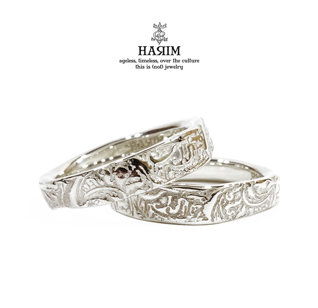 HARIM HRR010SV arabesqu  double ring