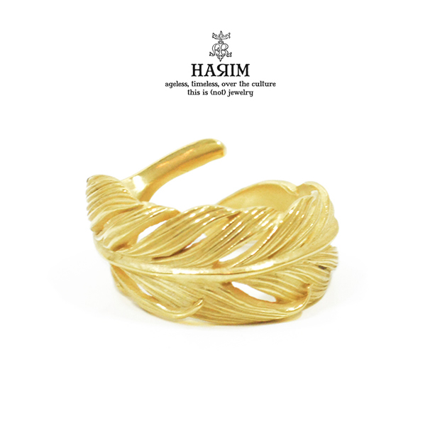 HARIM HRR015SG Owl Feather ring K18coating