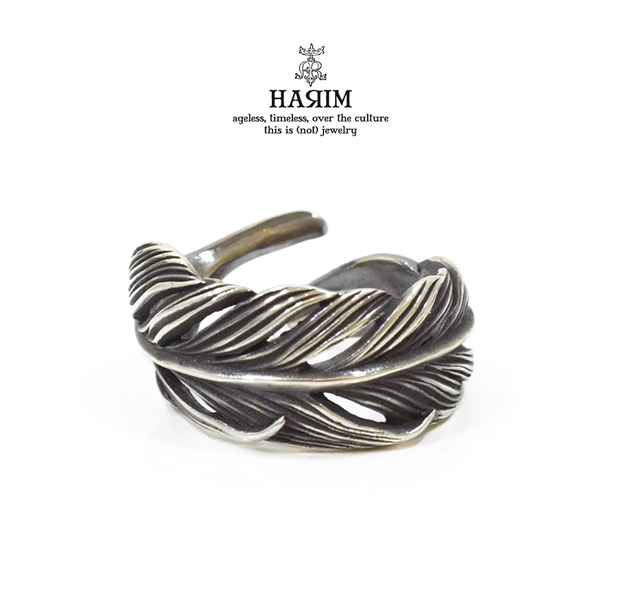 HARIM HRR015S Owl Feather ring