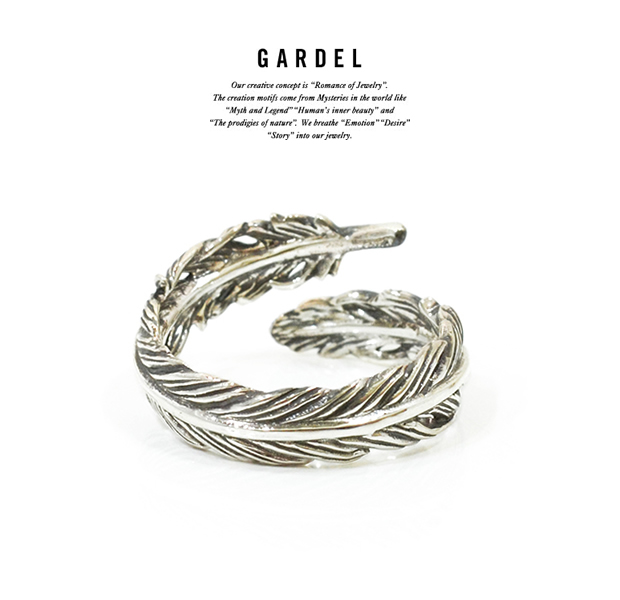 GARDEL gdr077 NATURAL FEATHER RING PINKY