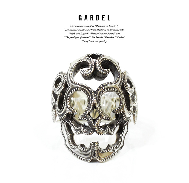 GARDEL gdr079 SURVIVE SKULL RING PINKY