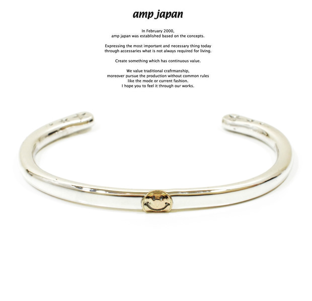 amp japan 14ao-345 circle silver bangle-K10 smile-