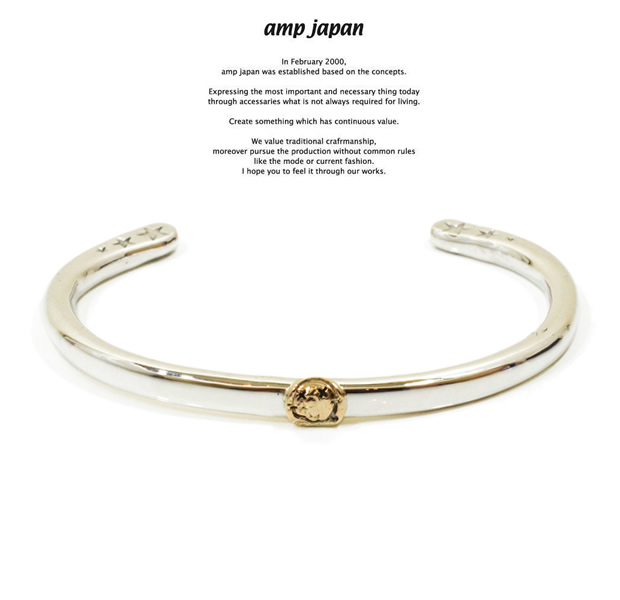 amp japan 14ao-346 circle silver bangle-K10 trip smile-
