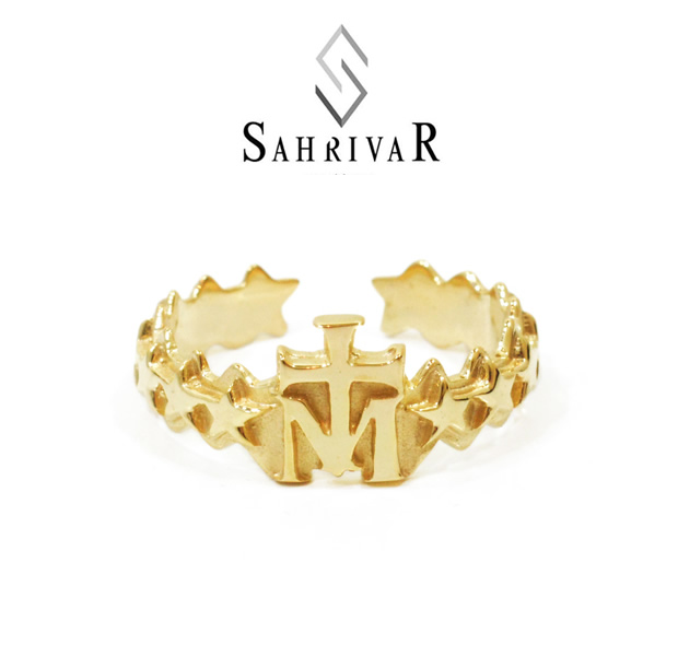 SAHRIVAR sr47b14a Cross on M Ring L