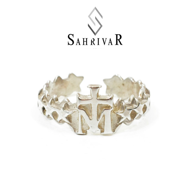 SAHRIVAR sr46s14a Cross on M Ring L
