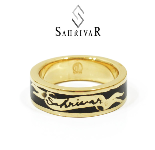 SAHRIVAR SR50B14A/BLACK Enameled Ring