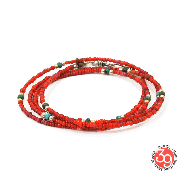 Sunku SK-107 Small Beads Long Necklace