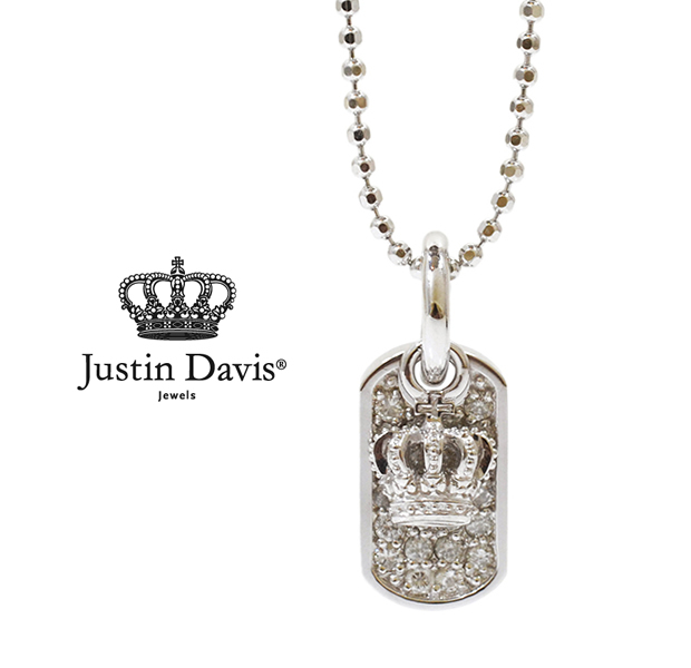 Justin davis snj162 diamond dog tag with crown extreme mozeypictures Images