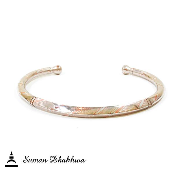 Suman Dhakhwa SD-B84 Square MOKUME Cuff