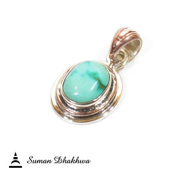 Suman Dhakhwa SD-P21 Turquise Stone Pendant