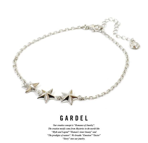 GARDEL gda002TS Trinity Star Anklet Silver