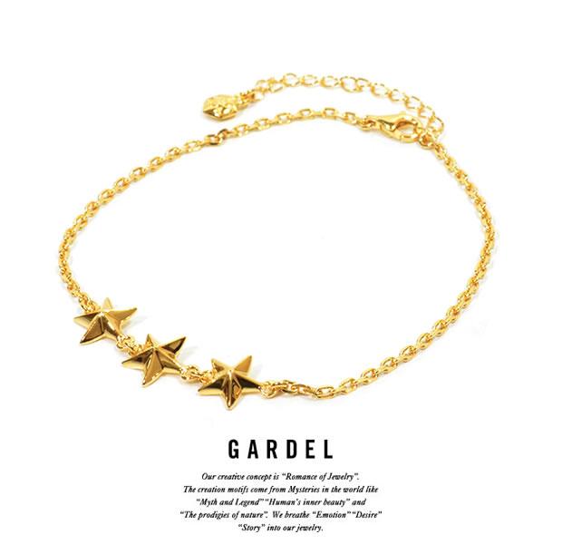 GARDEL gda002TS Trinity Star Anklet Gold