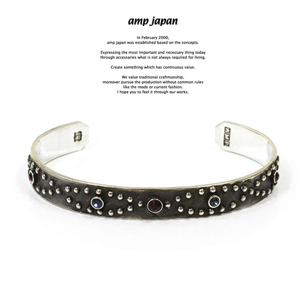 amp japan 15AO-325SV Classic Studs Bangle -Narrow-