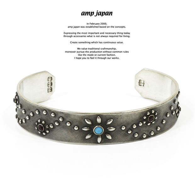 amp japan 15AO-326BR Flower Studs Bangle.