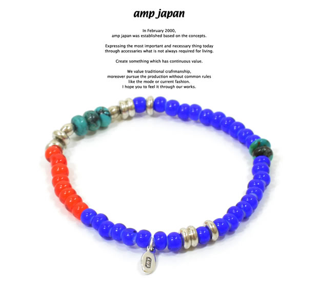 amp japan 15AHK-403NV White Hearts Bracelet