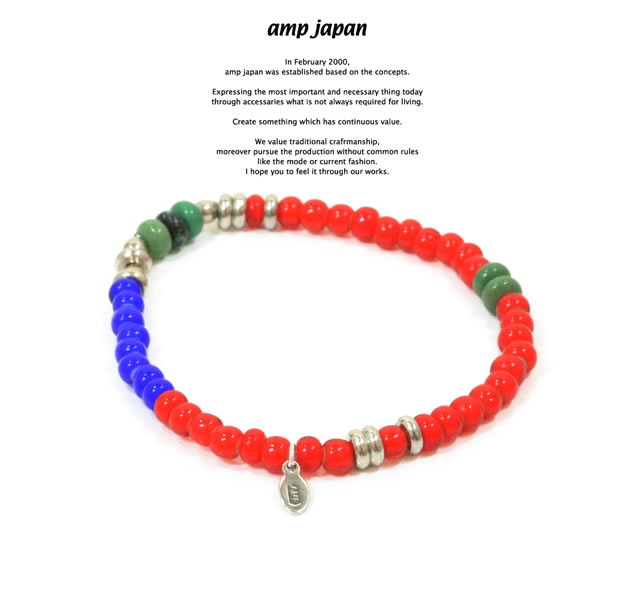 amp japan 15AHK-403RD White Hearts Bracelet