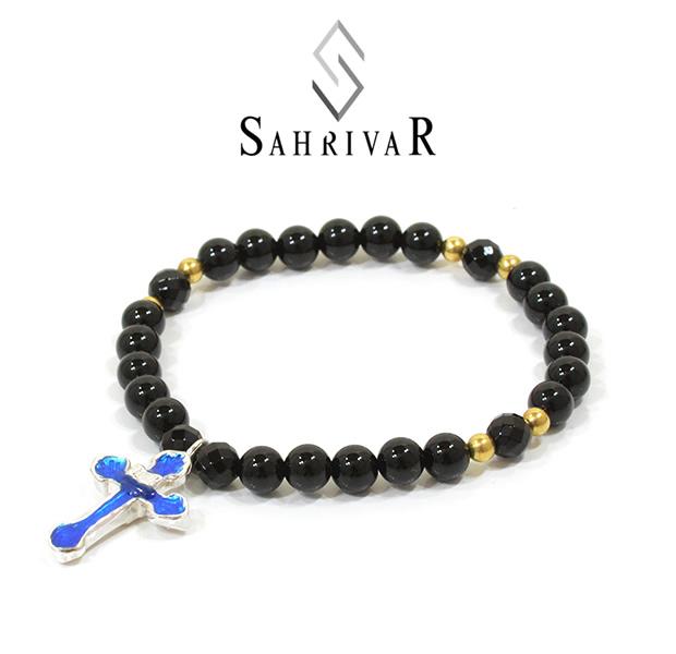SAHRIVAR SB33S15S Enameled Cross Bracelet