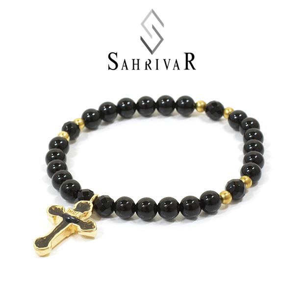 SAHRIVAR SB34B15S Enameled Cross Bracelet