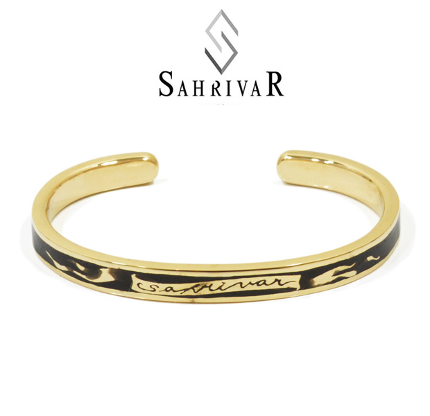 SAHRIVAR SB23B14A/BLACK Enarmeld Bangle