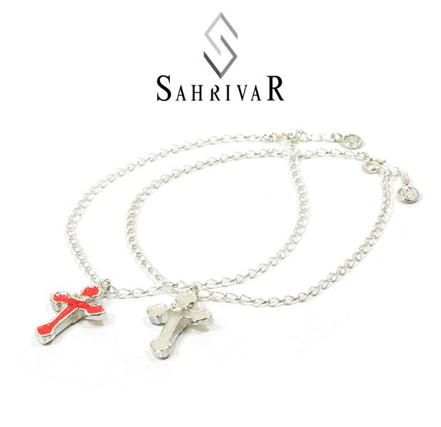 SAHRIVAR SX01S15S Enameled Cross Anklet