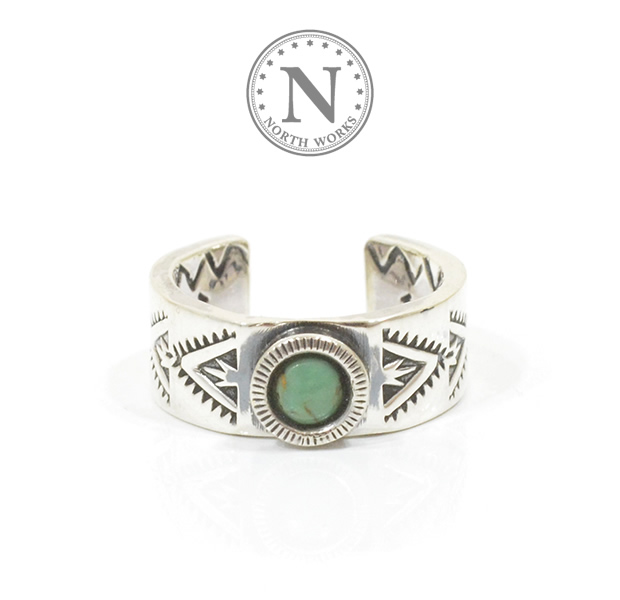 NORTH WORKS N-224 NAVAJO STAMP RING