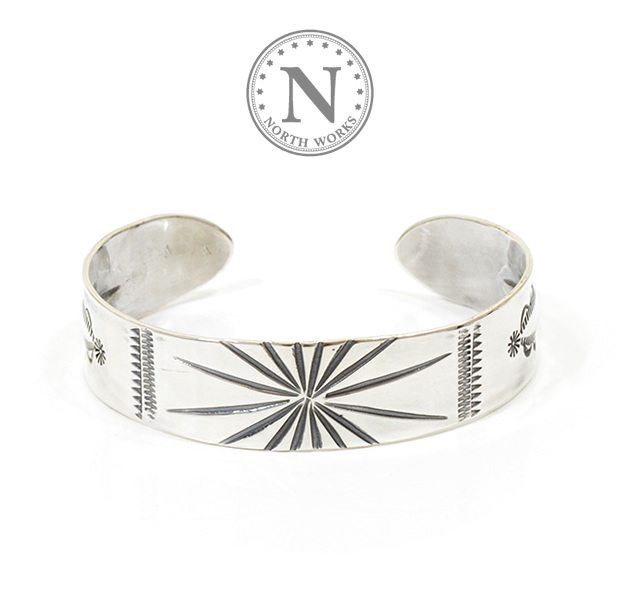 NORTH WORKS W-002 Stamped 900Silver Cuff Bracelet