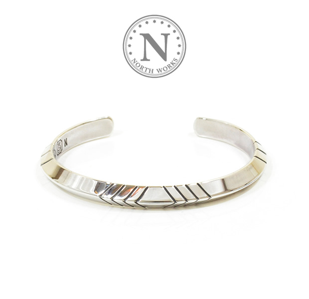 NORTH WORKS W-011 900Silver Triangle Cuff Bracelet