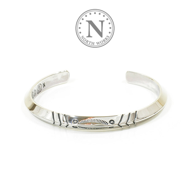 NORTH WORKS W-010 900Silver Triangle Cuff Bracelet