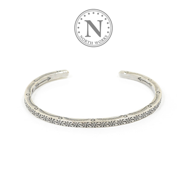 NORTH WORKS W-012 900Silver Square Cuff Bracelet