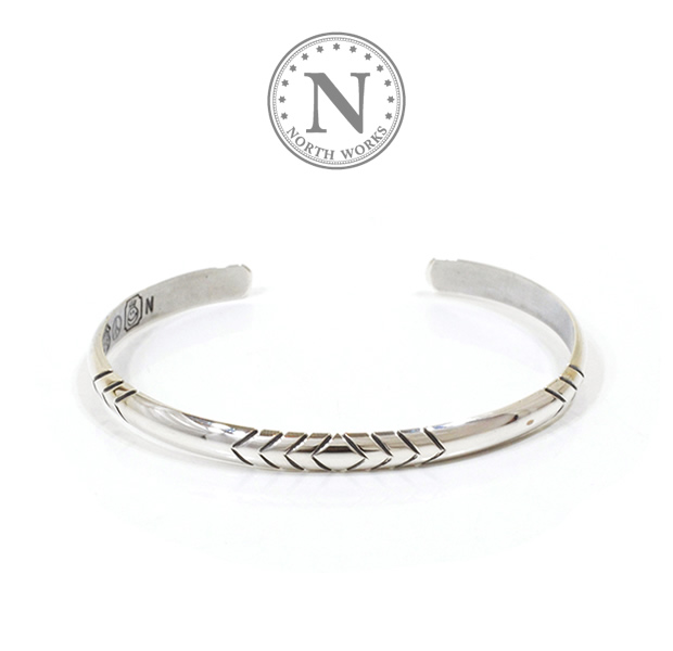 NORTH WORKS W-014 900Silver Round Cuff Bracelet