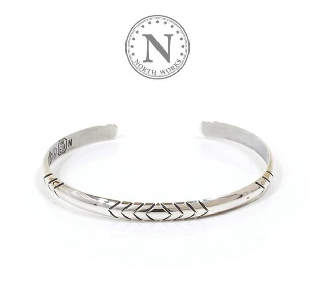NORTH WORKS W-014 900Silver Round Cuff Bracelet