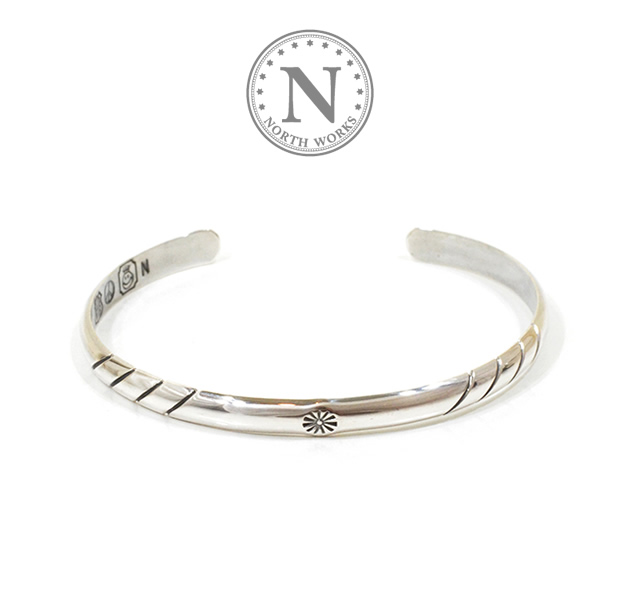 NORTH WORKS W-015 900Silver Round Cuff Bracelet