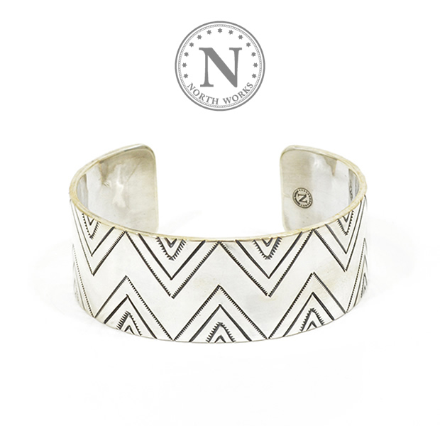 NORTH WORKS W-034 900silver stamp cuff LL