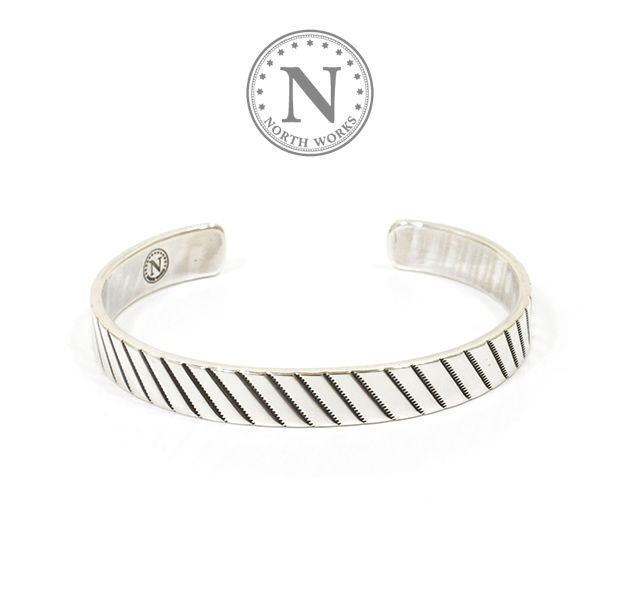 NORTH WORKS W-037 900Silver Stamp Cuff