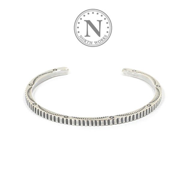 NORTH WORKS W-040 900Silver Square Cuff Bracelet