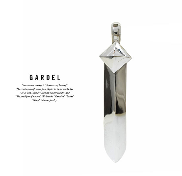GARDEL GDP-110L STUDS FEATHER PENDANT
