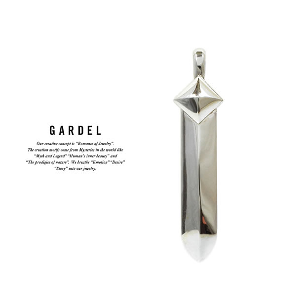 GARDEL GDP-110S STUDS FEATHER PENDANT