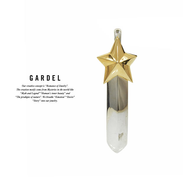 GARDEL GDP-111S/K18YG MERCURY FEATHER PENDANT