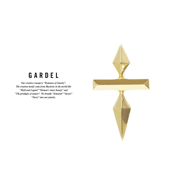 GARDEL GDP-114/K18YG DOUBLE STUDS CROSS