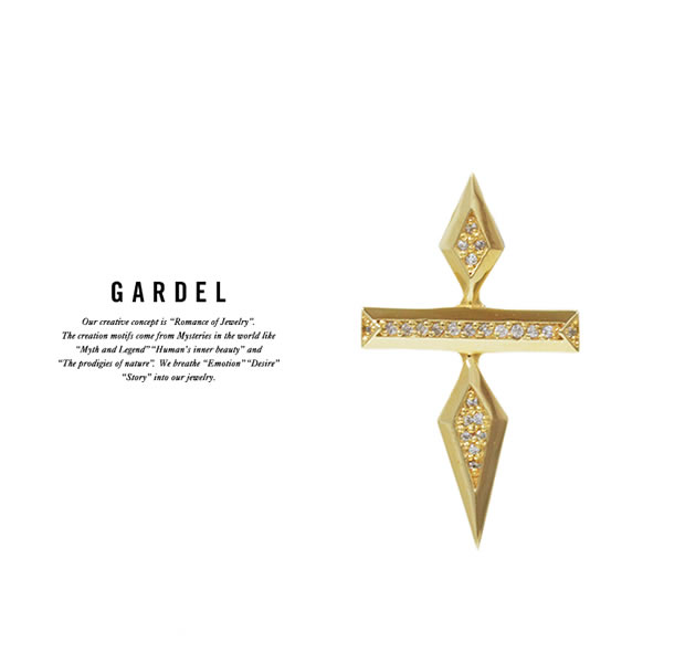 GARDEL GDP-115/K18YG DOUBLE STUDS CROSS