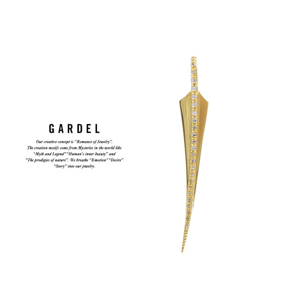 GARDEL GDP-117M/K18YG FRAGRANCE FEATHER PENDANT